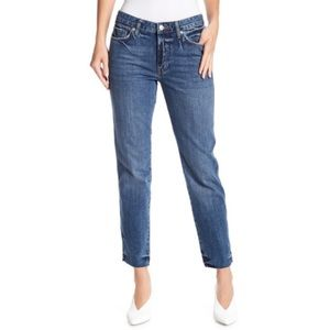 Free People Distressed Raw Hem Boyfriend Jeans.